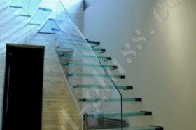 Стеклянная лестница для помещения