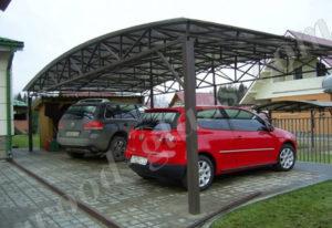 навесы для автомобиля из поликарбоната