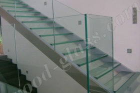 Лестница и перила из стекла